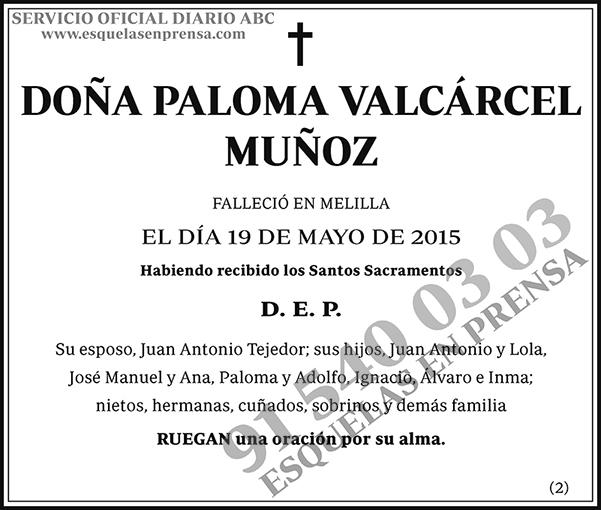 Paloma Valcárcel Muñoz